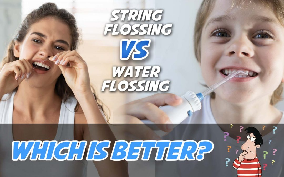 Is water flossing better than string flossing?